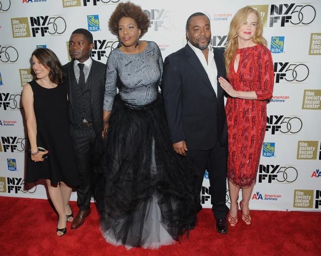Nicole Kidman et l'équipe du film Paperboy, dont Macy Gray, lors du New York Film Festival, le 3 octobre 2012.