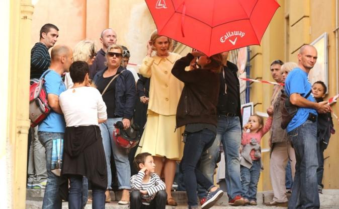 Nicole Kidman sur le tournage de Grace de Monaco le 9 octobre 2012 à Menton