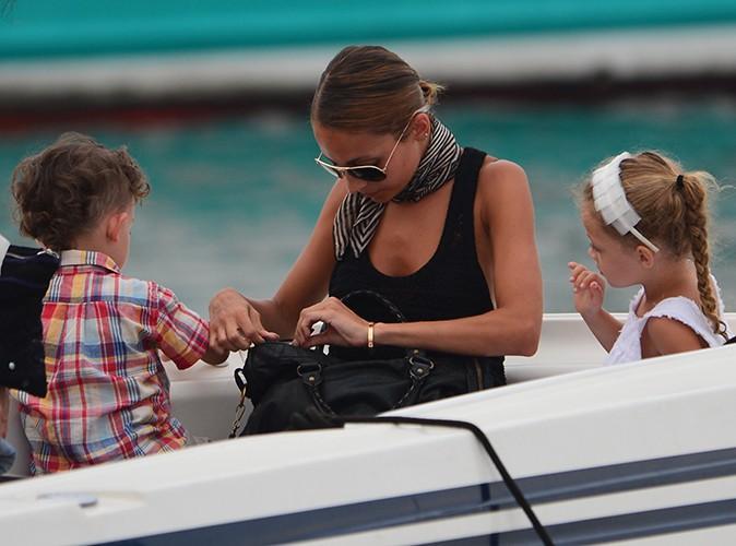 Nicole Richie, Joel Madden et leurs enfants à Saint-Tropez le 22 juillet 2013