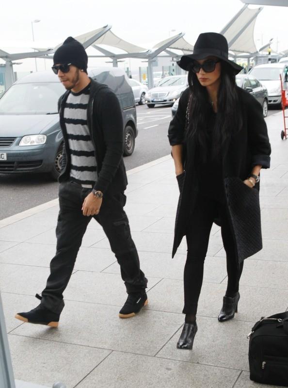 Nicole Scherzinger et Lewis Hamilton le 12 novembre 2012 à Londres
