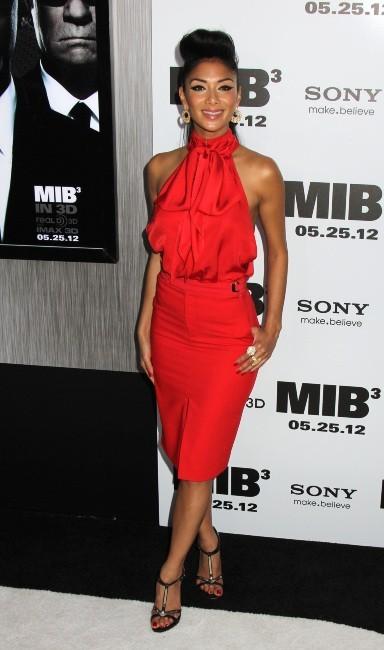 Nicole Scherzinger lors de la première new-yorkaise de MIB 3, le 23 mai 2012.