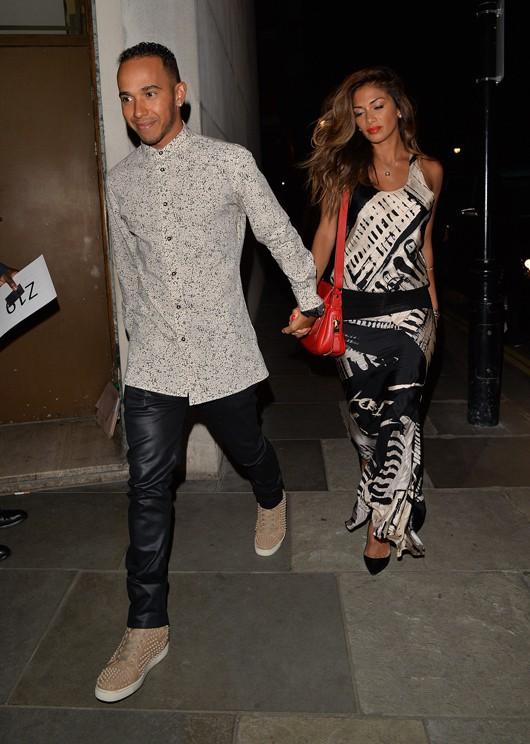 Lewis Hamilton et Nicole Scherzinger à Londres le 31 mai 2014