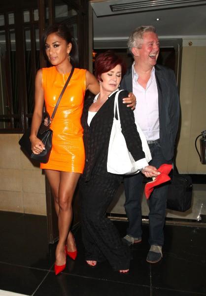 Nicole Scherzinger, Sharon Osbourne et Louis Walsh à Londres, très tôt ce jeudi 18 juillet 2013.