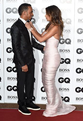 Lewis Hamilton et Nicole Scherzinger à Londres le 2 septembre 2014