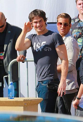 Ian Somerhalder à Los Angeles le 10 août 2014