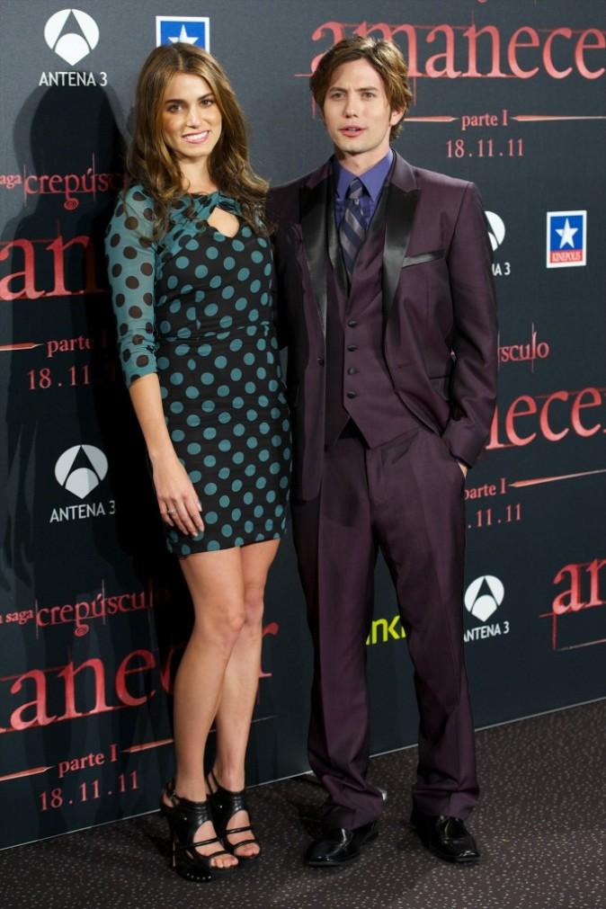 Nikki Reed et Jaskson Rathbone lors du photocall du film Twilight 4 à Madrid, le 28 octobre 2011.