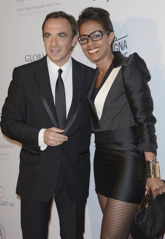 Nikos Aliagas et Audrey Pulvar lors du Global Gift Gala à Paris, le 13 mai 2013.