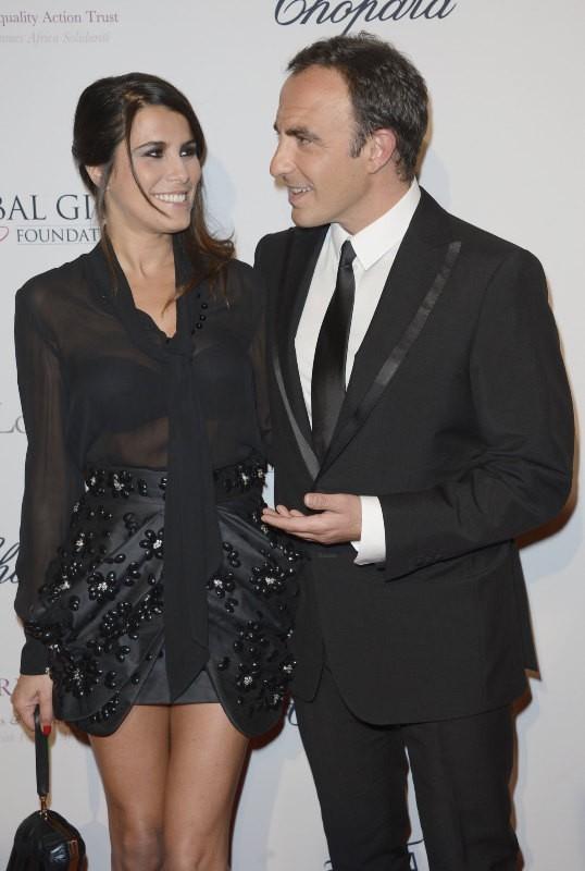 Nikos Aliagas et sa compagne Tina Grigoriou lors du Global Gift Gala à Paris, le 13 mai 2013.