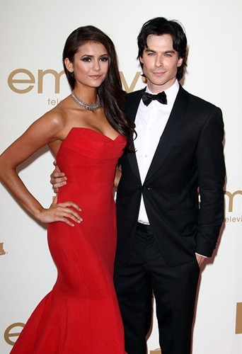 Le couple foule le red carpet ensemble lors de la cérémonie des Emmy Awards, le 18 septembre 2011