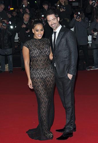 Amel Bent et Emmanuel Moire à Cannes le 14 décembre 2013