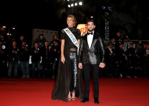 Kendji Girac et Camille Cerf aux NRJ MUsic Awards 2014 à Cannes, le 13 décembre 2014