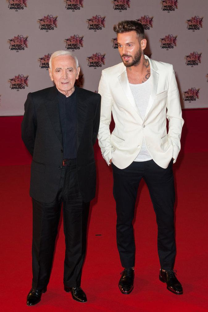 M.Pokora et Charles Aznavour