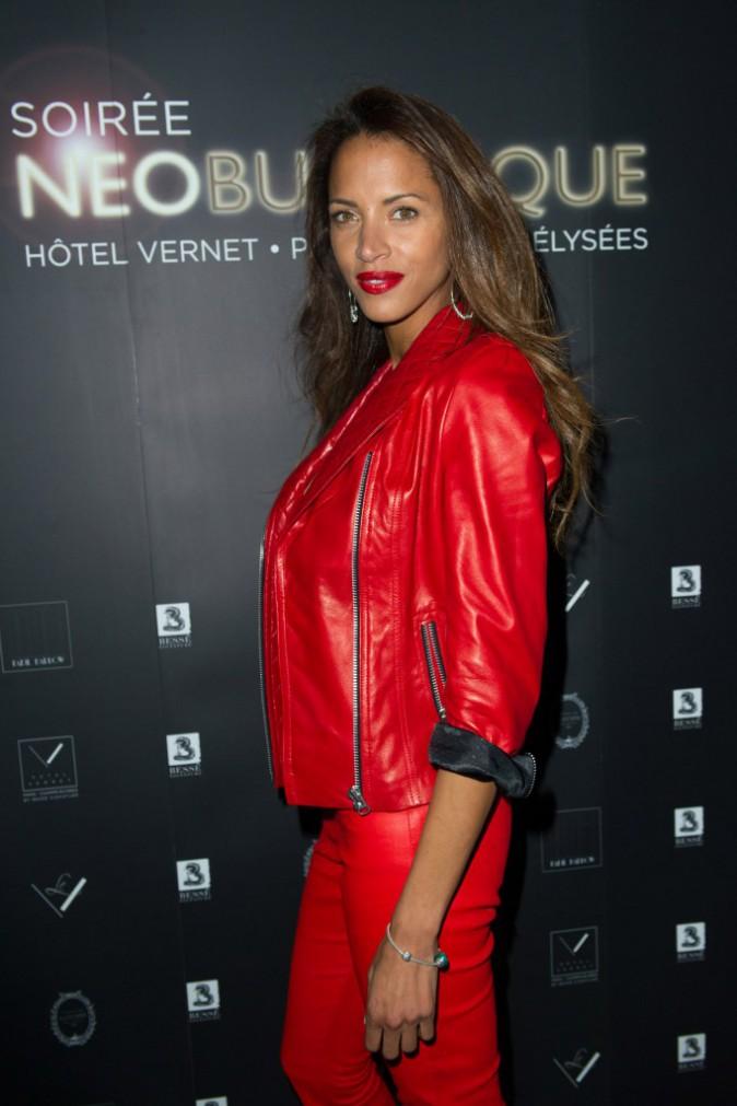 Noémie Lenoir lors de la soirée Neo Burlesque à Paris, le 20 mars 2014.