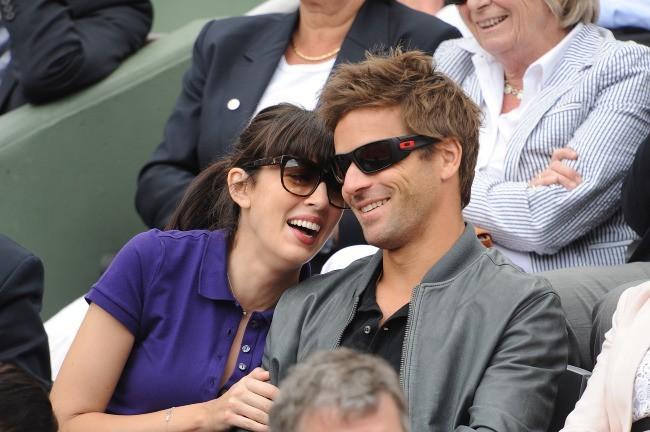 Nolwenn Leroy et Arnaud Clément à Roland-Garros, le 9 juin 2012.