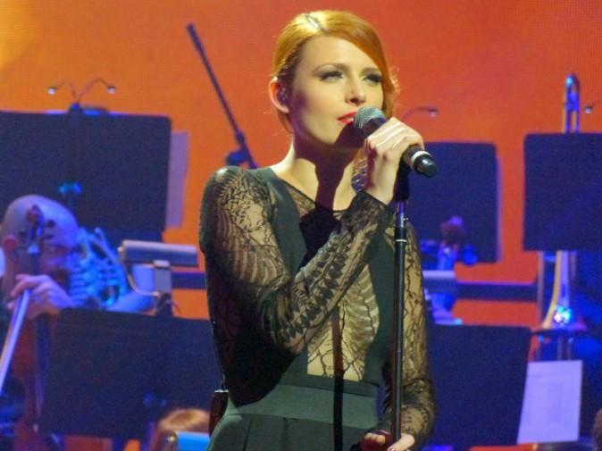 Elodie Frégé lors du concert en hommage à Edith Piaf à New-York le 19 septembre 2013
