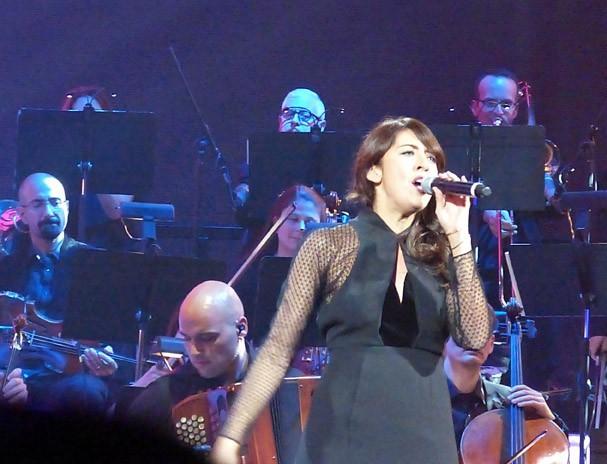 Nolwenn Leroy lors du concert en hommage à Edith Piaf à New-York le 19 septembre 2013