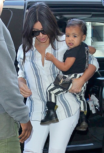 Kim Kardashian et North West à Los Angeles le 1er septembre 2014