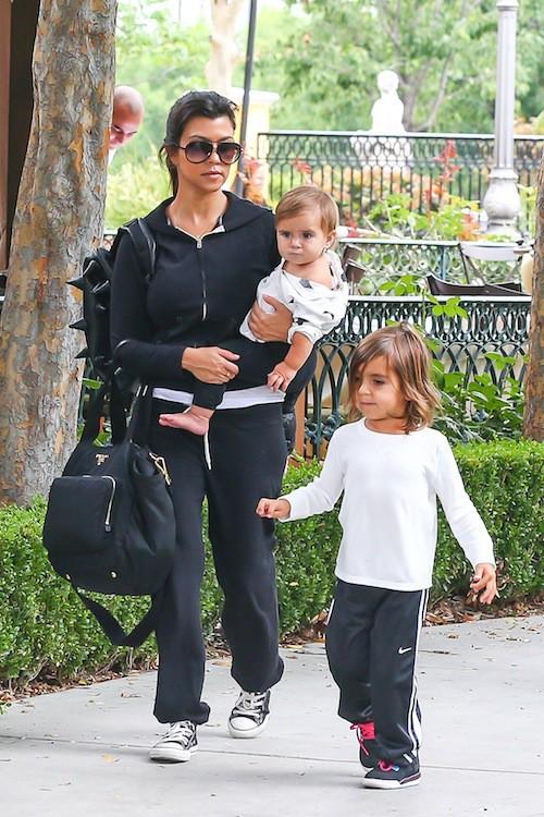 Kourtney Kardashian, Mason et Penelope