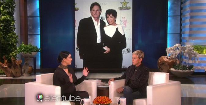 Kim Kardashian avec Ellen DeGeneres le 29 septembre 2015