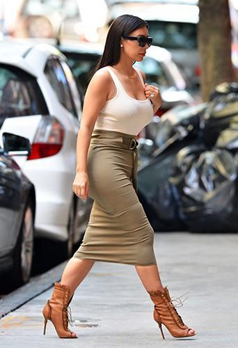 Kim Kardashian à New York le 15 juin 2014
