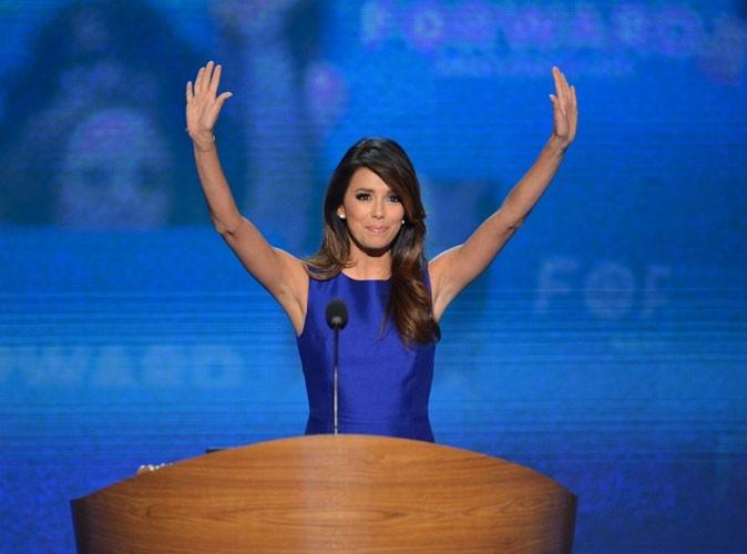 Photos : Eva Longoria soutient Barack Obama