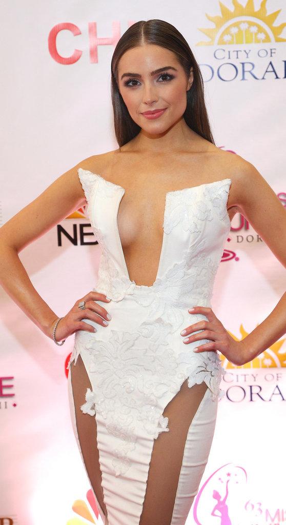 Olivia Culpo en mode femme fatale