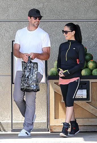 Aaron Rodgers et Olivia Munn à Los Angeles le 9 juin 2014