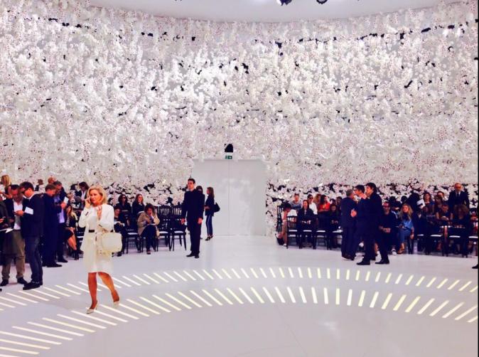 Le défilé Dior lors de la Fashion Week Haute couture à Paris, le 7 juillet 2014
