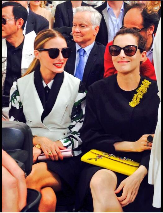 Olivia Palermo au défilé Dior lors de la Fashion Week Haute couture à Paris, le 7 juillet 2014