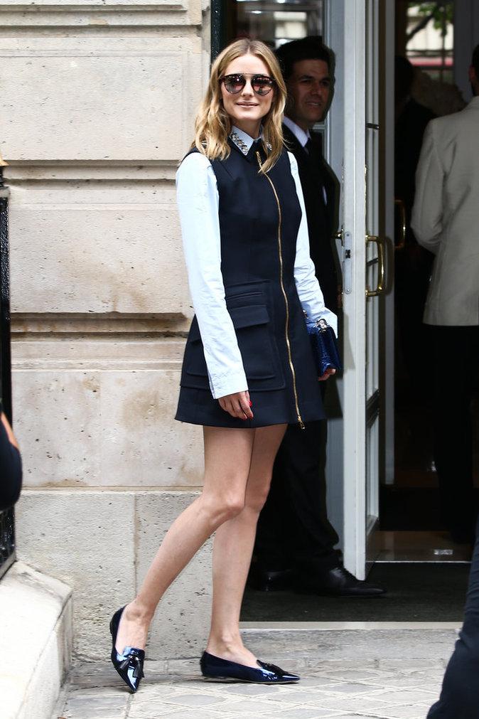 Olivia Palermo à Paris le 4 juillet 2016
