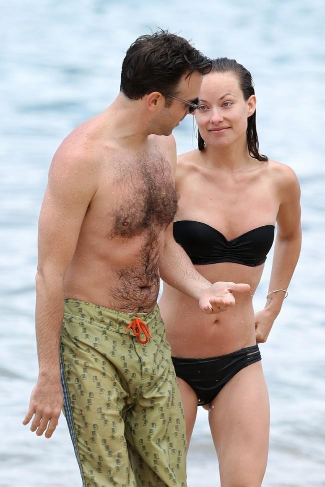 Olivia Wilde en vacances à Hawaï avec son fiancé Jason Sudeikis le 28 mai 2013