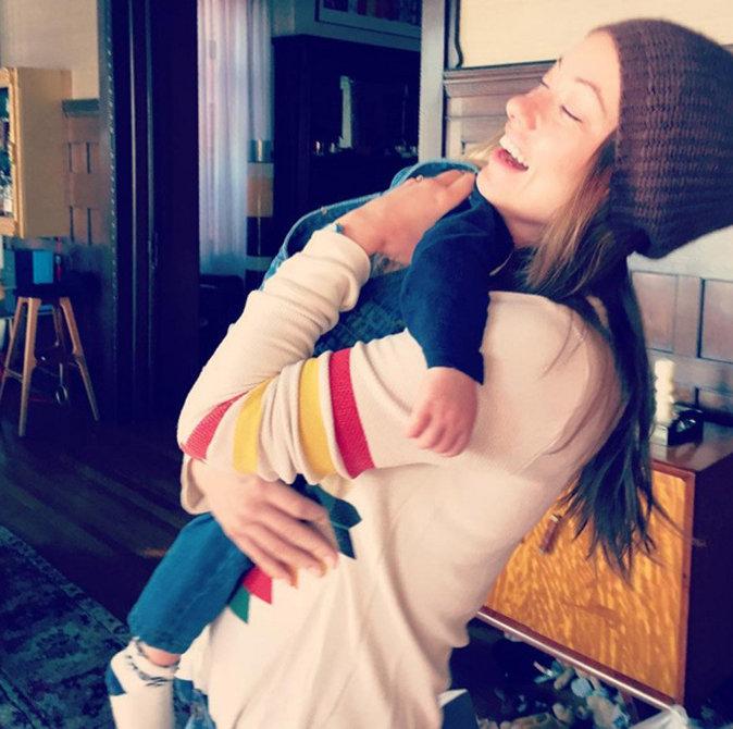 Olivia Wilde et son fils Otis