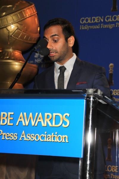 Aziz Ansari lors de l'annonce des nommés aux Golden Globes 2014, le 12 décembre 2013 à Beverly Hills.