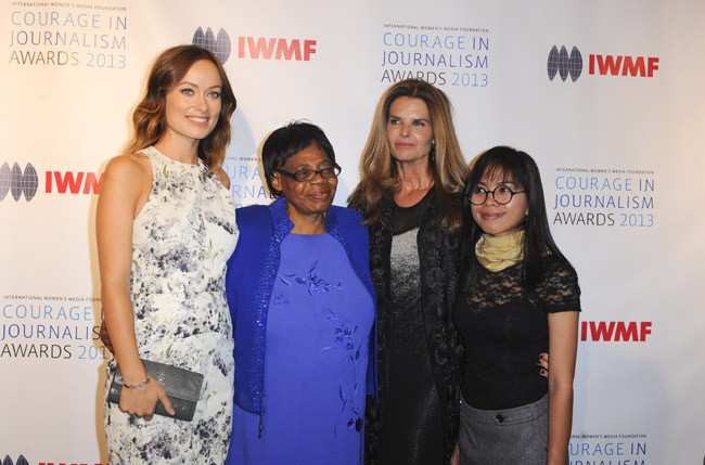 Olivia Wilde aux International Women's Media Foundation's Courage in Journalism Awards, à Beverly Hills, le 30 octobre 2013