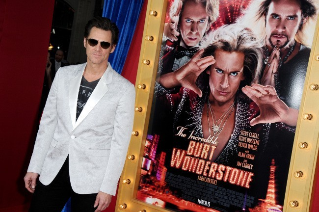 Jim Carrey à la première de The Incredible Burt Wanderstone