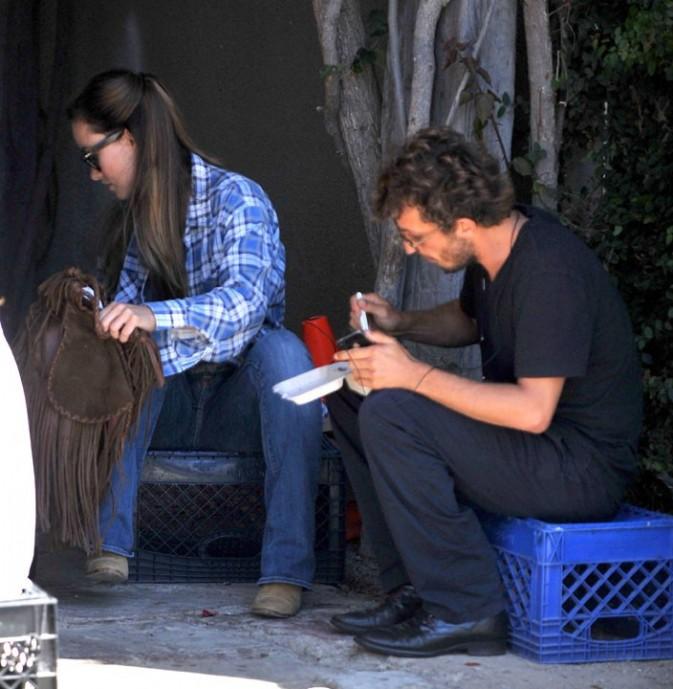 Olivia Wilde et Tao Ruspoli dans le quartier de Venice en Californie, le 25 août 2011.