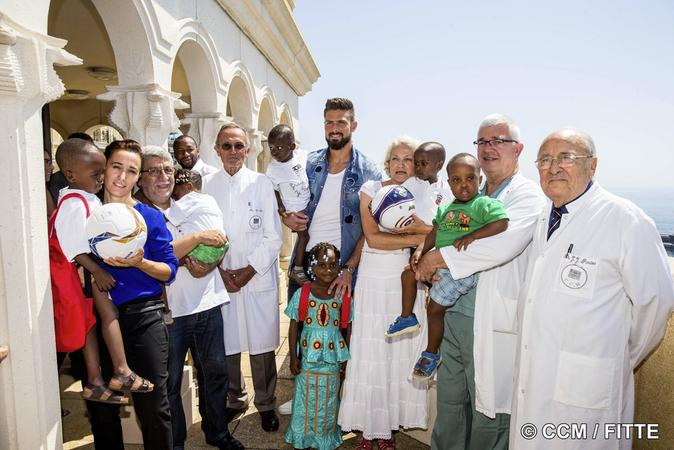 Photos : Olivier Giroud, cette rencontre avec Fanta qu'il n'oubliera pas