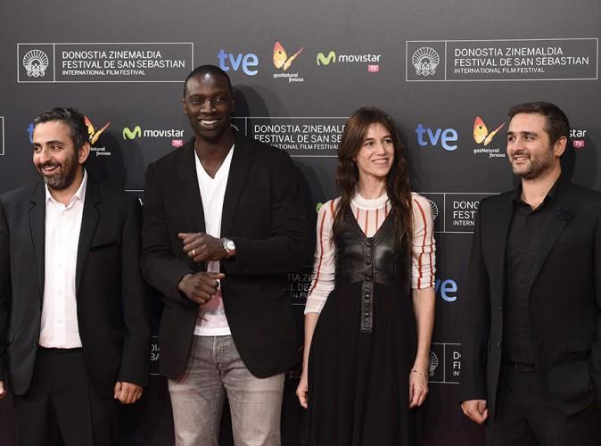Olivier Nakache, Omar Sy, Charlotte Gainsbourg et Eric Toledano à Saint-Sébastien le 27 septembre 2014