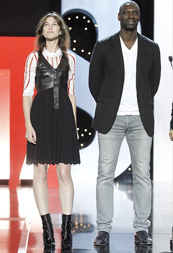 Omar Sy et Charlotte Gainsbourg à Saint-Sébastien le 27 septembre 2014