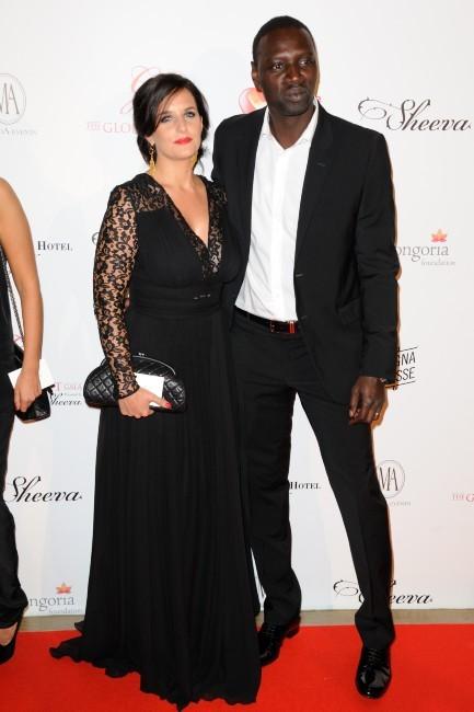 Omar Sy et sa femme Hélène lors du Global Gift Gala à Paris, le 28 mai 2012.
