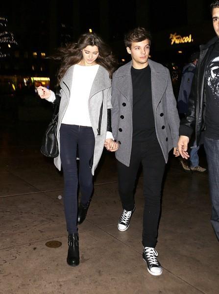 Louis Tomlinson et sa copine Eleanor Calder à New York, le 2 décembre 2012.