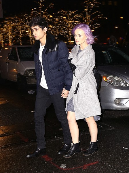 Zayn Malik et sa copine Perrie Edwards à New York, le 2 décembre 2012.