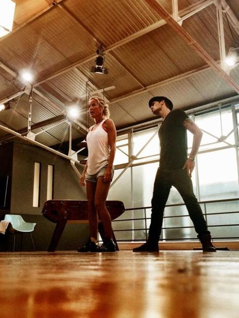 Ophélie Winter : entre répétitions et moments de détente, elle forme déjà un duo très fusionnel avec Christophe Licata !
