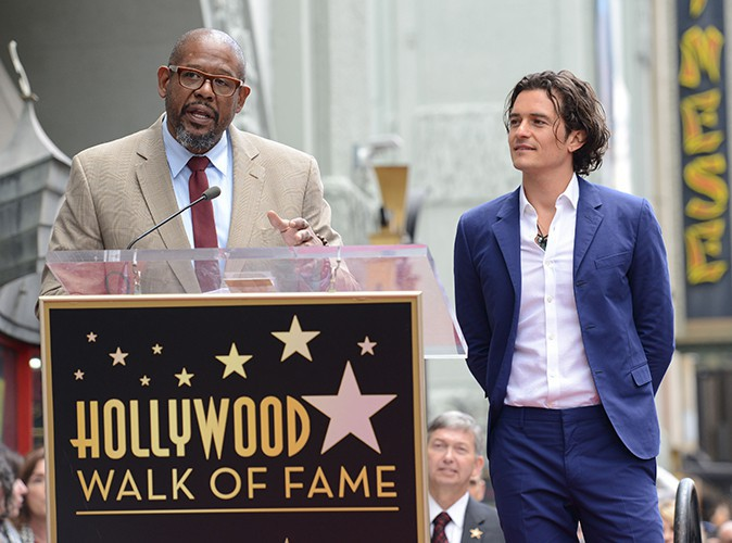 Forest Whitaker et Orlando Bloom à Los Angeles le 2 avril 2014