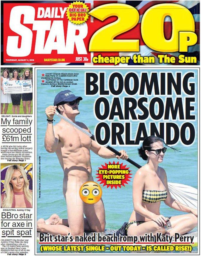 Photos : Orlando Bloom : complètement nu en vacances avec Katy Perry !