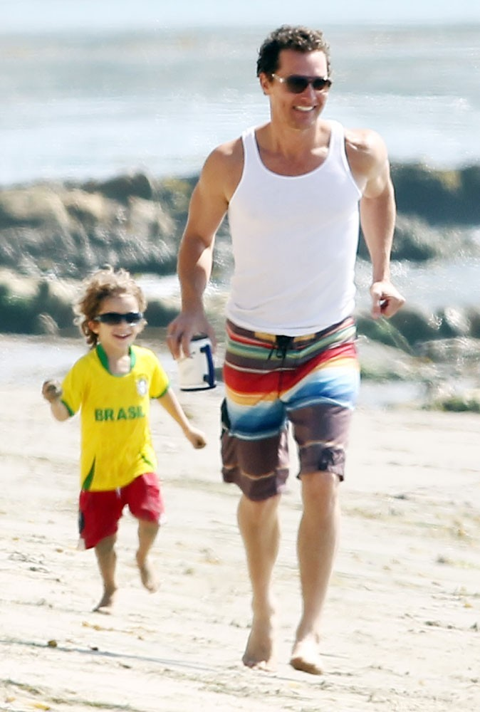 Matthew McConaughey avec son petit garçon !