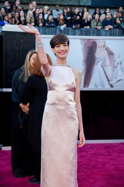 Anne Hathaway lors de la 85e cérémonie des Oscars à Los Angeles, le 24 février 2013.