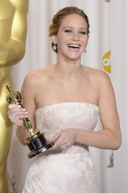 Jennifer Lawrence lors de la 85e cérémonie des Oscars à Los Angeles, le 24 février 2013.