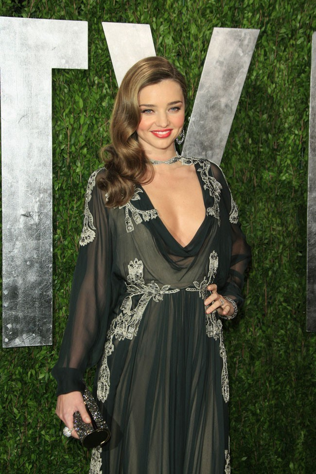 Miranda Kerr et Orlando Bloom à la soirée Vanity Fair, à West Hollywood, le 24 février 2013
