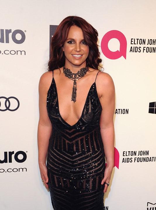 Britney Spears à l'after-party d'Elton John le 2 mars 2014